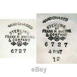 5pc Vintage C1930 Argent Sterling Frank Whiting 6727 Thé & Café Set