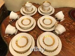 6 Tasses 6 Soucoupes 6 Assiettes À Gâteaux Rare Vintage Allemand Heinrich Porcelaine Set Café