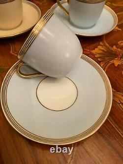 8 Tasses 8 Saucers Vintage Danish Bing & Grondahl Cafetière