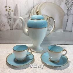 À Café Renversant De Wedgwood De Cru, Turquoise Motif Rare W4175 13 Pcs (+ 2a / F)
