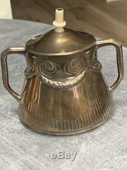 Allemand Vintage En Argent Massif Thé / Café Set C. 1900