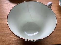 Ancien Set De Café Shelley Melody. 1 Tasse Manquante, Cruche Réparée, Fissure Sur 1 Tasse