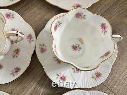 Antique Foley Dainty Rose Coffee Set For 6 Vintage China Cups Soucoupes Shelley