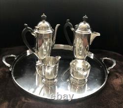 Antique Vintage Mappin & Webb 5 Pièces Argent Assiette Art Déco Café / Tea Set