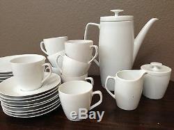 Antique Vtg Rare 27 Schonwald Allemagne Vaisselle Blanche Fine China Tea Coffee Set Old