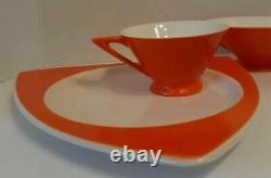 Antique/vtg MCM Atomic Space Age Cafe/tea Serving Set, Retro Orange, 1930s-50s