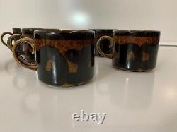 Arabia Coffee Cup Mug Espresso Vintage Chine Made In Finland Rare Ensemble De (6) Nouveau