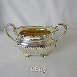 Argent Plaqué 4 Pc Thé Et Café Set Vintage Birks Regency Plate Great Condition