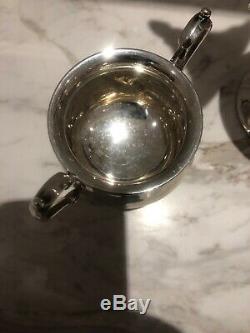 Argent Vintage Sterling Thé / Café Set 3 Pc 633 Grammes
