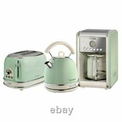 Ariete Dome Kettle, 2 Slice Toaster And Filter Coffee Machine Set, Vintage Green