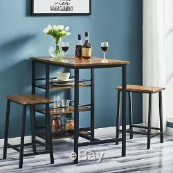 Artiss 2 / 4x Table De Bar Tabourets Sets À Manger Chaises Vintage Tabourets De Cuisine Café