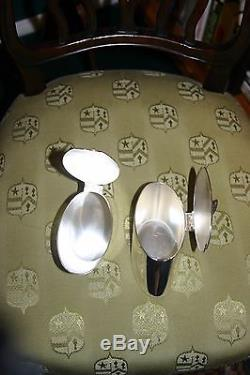 Asprey & Garrard London Vintage Plaqué Argent 5pc Set Service Café / Thé