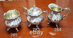 Baroque Tea & Coffee Set Par Wallace 5 Pièces Vintage Siverplate Set