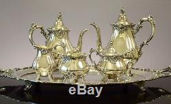 Baroque Tea & Coffee Set Par Wallace 6 Pièces Set Vintage