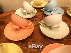 Big Vintage 16 Tasses 16 Soucoupes À Thé En Porcelaine Allemande Set Café