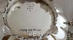 Birks Sterling Silver Vintage 4 Pc Set De Thé Et De Café 97.7 Troy Oz. 3038 Grammes