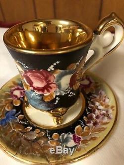Capodimonte Vintage Cappuccino Sertie De Cafetière. Donne 12. Jamais Utilisé