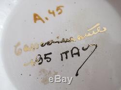 Capodimonte Vintage Italie Demitasse Service À Café Pot À Crème Sucre 6 Tasses & Soucoupes