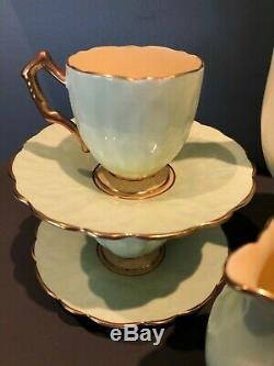 Circa 1934 Vintage Aynsley Demitasse Crocus Set Café