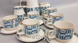 Coffee A Café En Porcelaine Moderne Hommes Vintage Hongros Zsolnay Des Années 1960