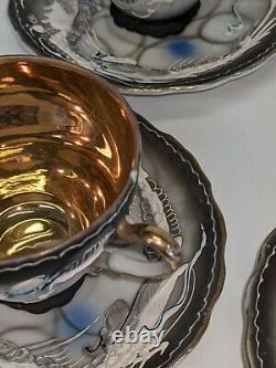 Dragonware Moriage Vintage Tea Coffee Set MID 20th Century Japon