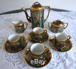 Ensemble À Café En Porcelaine Noritake Antique / Vintage, Avec 4 Canettes De Café, 11 Tasses