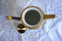Ensemble À Café En Porcelaine Noritake Antique / Vintage Avec 4 Tasses De Café En Boîte 11 Pcs