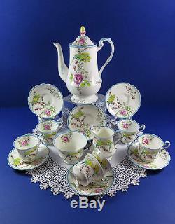 Ensemble À Café Paragon Vintage Années 1930 Princess Margaret Budgies & Roses