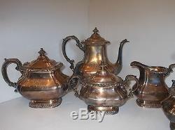 Ensemble À Thé Et À Café Gorham À 5 Pièces Vintage - Gadroon Silver Plated