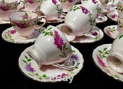 Ensemble À Thé Et À Café Toscan, Après-midi Vintage / Bone China / Lilac Time / Floral