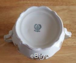 Ensemble À Thé Ou À Café Vintage Roslau Bavaria White / Gold Pour Pot, Crème Et Sucre