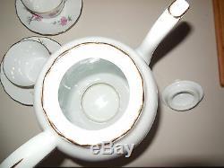 Ensemble Cafe Vintage Francais Porcelaine Limoges Berry Lourioux Jantes Dorées Signées