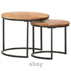 Ensemble De 2 Tables De Nesting Tables De Café Vintage Living Room Tables Latérales Tables