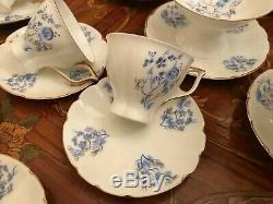 Ensemble De Café À 6 Soucoupes En Porcelaine Peint À La Main, Vintage Jiesia