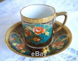 Ensemble De Café Antique / Vintage En Porcelaine Noritake Avec 4 Tasses De Café, 11 Pcs