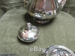 Ensemble De Café En Porcelaine Porcelaine De Chine Rosenthal Plaquée En Argent Sterling D'époque