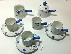 Ensemble De Café Espresso Art Deco Vintage En Porcelaine Czecoslovaquie Demitasse