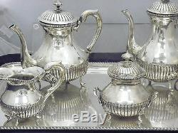Ensemble De Café Et Thé Magnifiques Vintage 4 Silver Silver 800