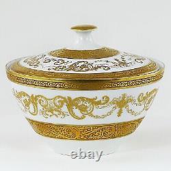 Ensemble De Café Pour 8 Vintage Bohemian Or Incrusté Porcelaine Premium De Luxe