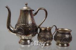 Ensemble De Café Vintage En Argent Sterling Antique Antique