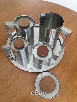 Ensemble De Café Vintage Jacobsen Style En Acier Inoxydable