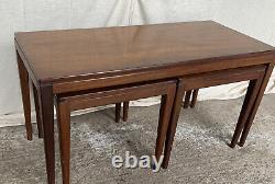 Ensemble De Table Basse Rétro En Teck Nest 1 Plus 2 Retro Vintage