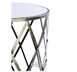 Ensemble De Tables Industrielles En Verre À Miroir En Verre Vintage