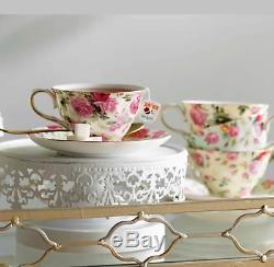 Ensemble De Tasse À Thé Et Soucoupe Vintage 8 Pièces Ensemble De Porcelaine À Motif Floral Fine China