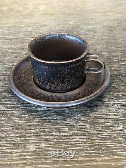 Ensemble De Thé À Café En Céramique Vintage Arabia Of Finland Ruska, Rare Du Milieu Du Siècle Moderne