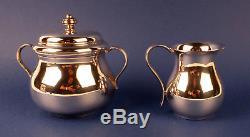 Ensemble De Thé Et Café Vintage Christofle Argenté 4 Pièces C1950 / 60