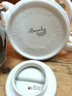 Ensemble Tasses À Thé / Café Straffordshire Des Années 1930 Rég'd'beverlyware '