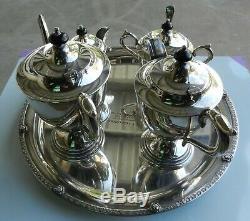 Ensemble Thé / Café Vintage De 5 Pièces Paramount Triple Plaque Argentée Epns (b)