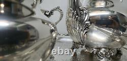 Epca Old English Silver Plateby Poole 5000 / Ensemble Thé-café Vintage Des Années 1930