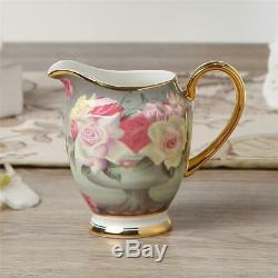 Europe Vintage Rose Bone China Café Set En Porcelaine Britannique Tea Set Pot En Céramique